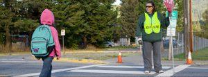 child pedestrian crossing