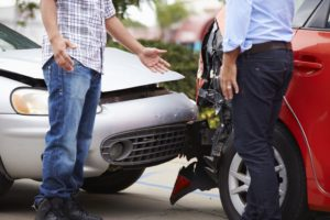 drivers arguing after auto accident