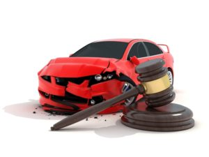 car accident with gavel