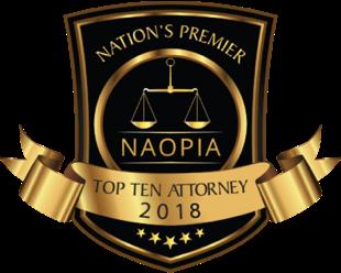 Nation's premier top ten attorney award 2018