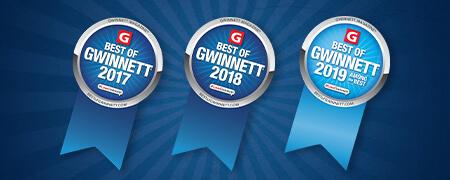 Best of Gwinnett 2017-2019 award