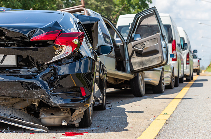 Vehicle pileup on Georgia highway