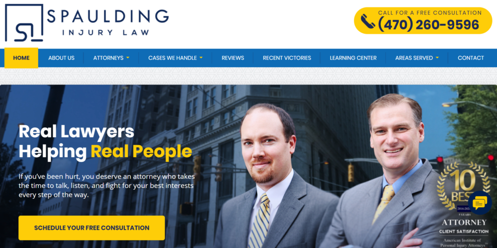 Spaulding Injury Law Launches New Website